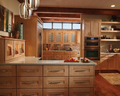 Schuler Cabinets I Love A Simple Recessed Panel Door Style Schuler Cabinets Brown Kitchen Cabinets Kitchen Cabinet Design