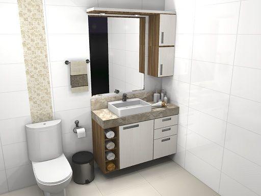 Banheiro Pequeno Pede Um Projeto De Móveis Planejados