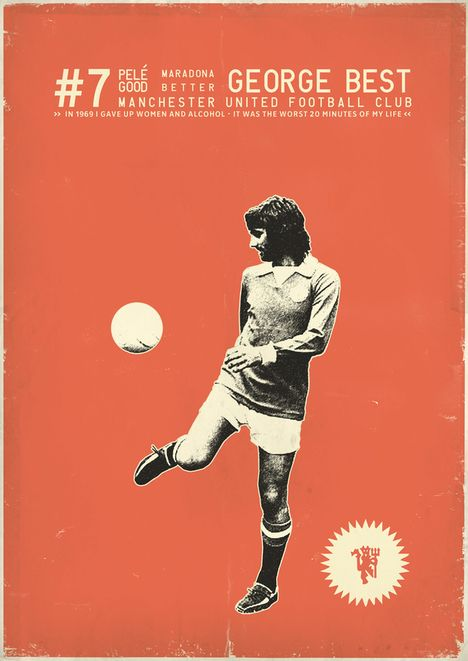 Cartazes Vintage De Jogadores Futebol