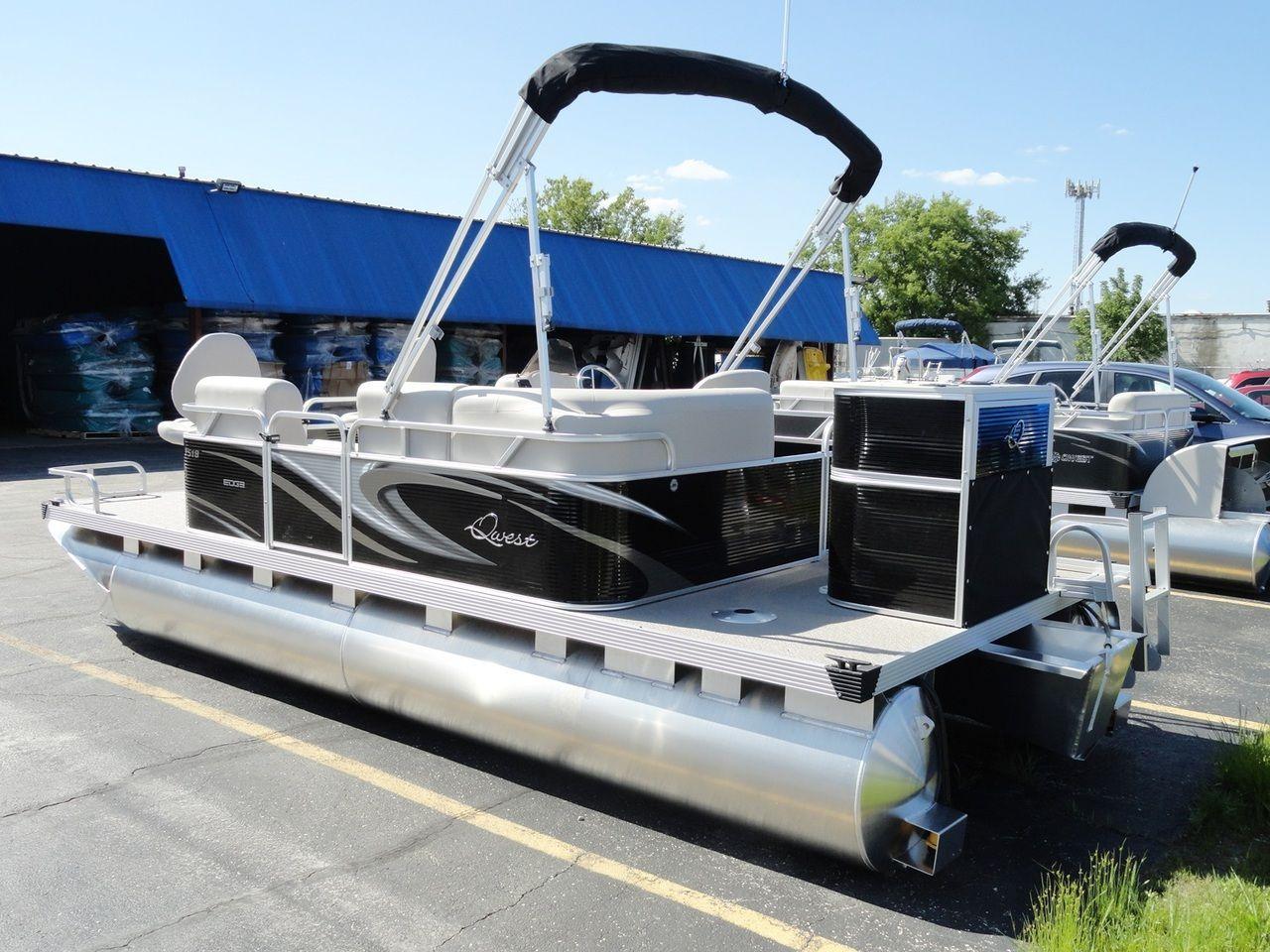 Apex marine fishing pontoon boat qwest edge 7518 angler for Angler fishing boat
