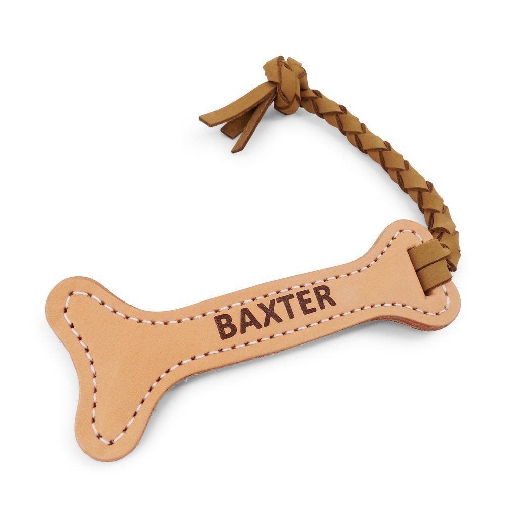 Personalized Leather Fetch Dog Toy Bone Dog Toys Leather How