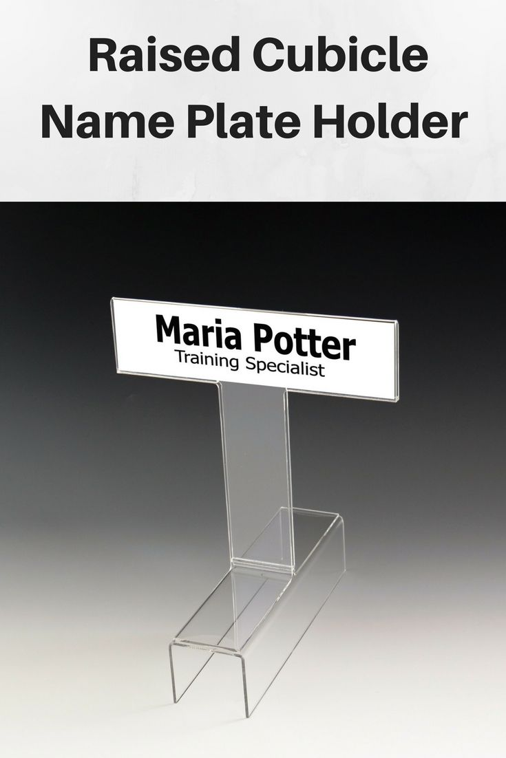 Acrylic Cubicle Name Plate Holder. Raised Cubicle Name ...
