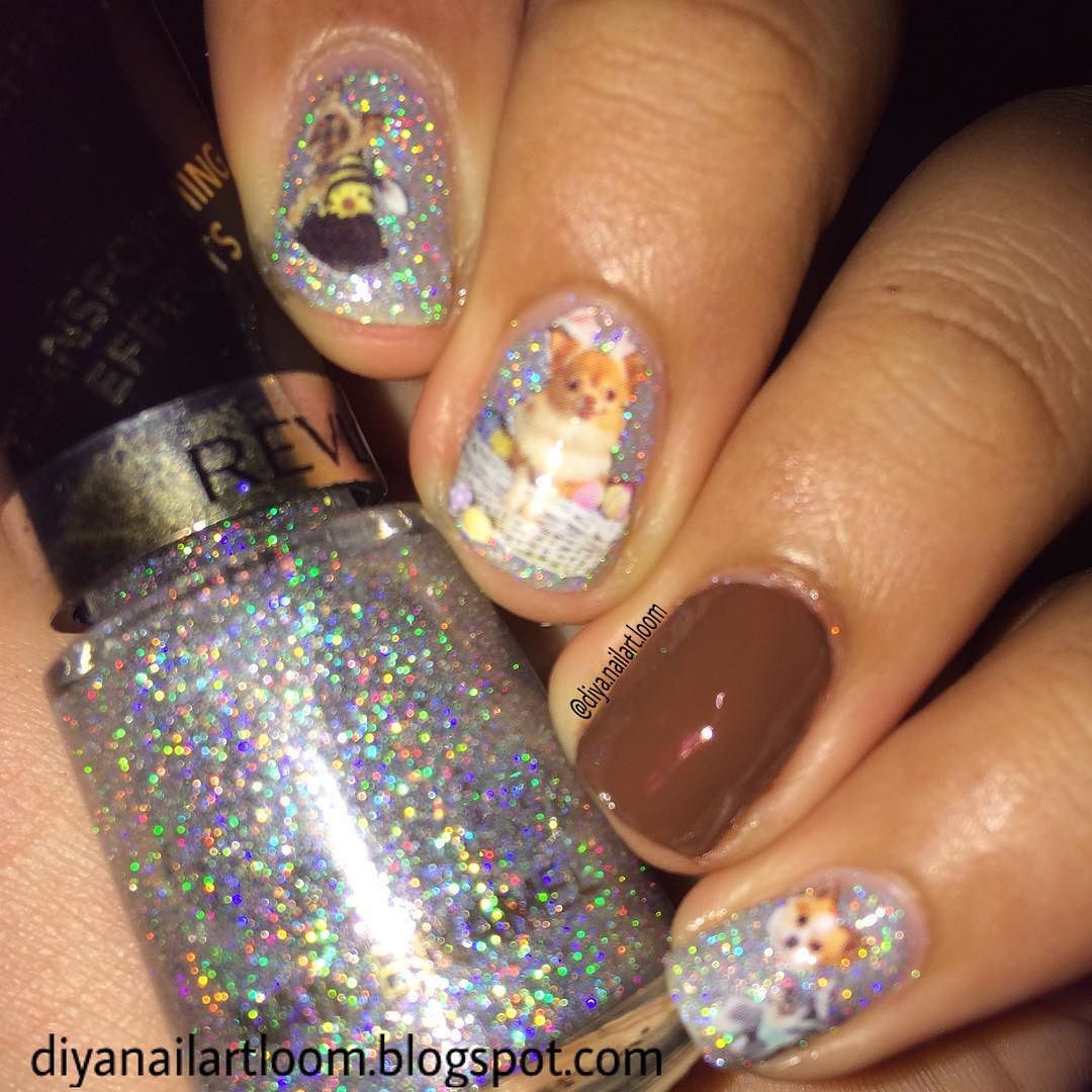 New nail art! Using @ladyqueenbeauty dog water decals. I have a ...