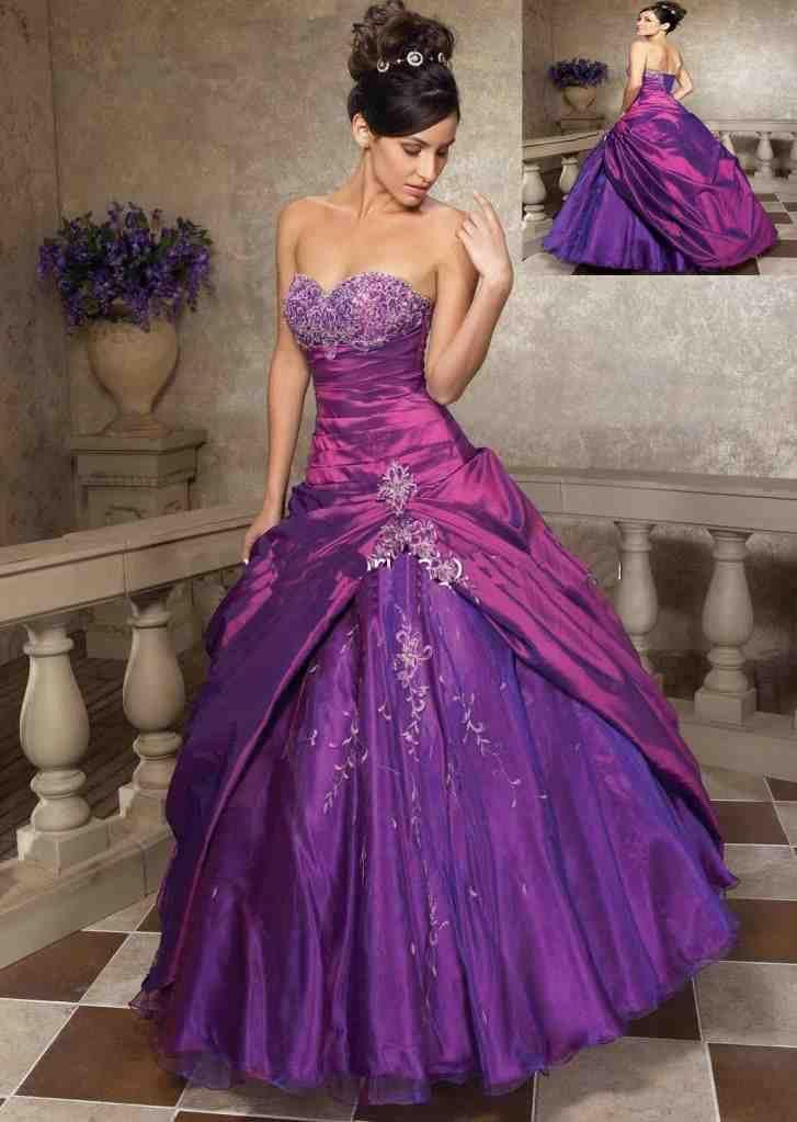 Purple And Silver Wedding Dresses Purple Wedding Dress Ball