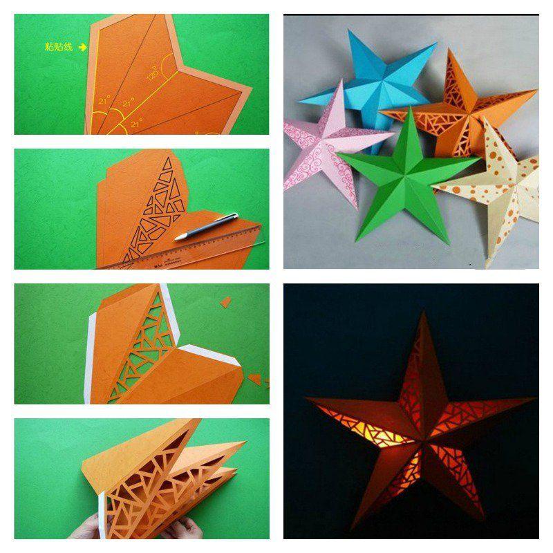 Diy 3d Paper Star Wall Lamp Shade Antique Lamp Shades Rustic