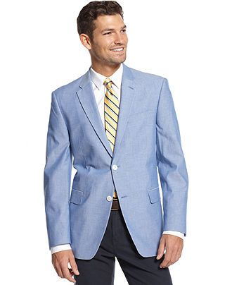 Tommy Hilfiger Chambray Sport Coat Slim Fit - Blazers & Sport Coats - Men -  Macy's