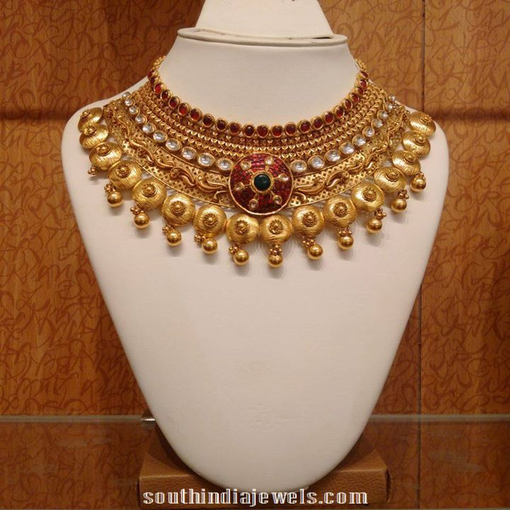 Kundan Bridal Necklace | Indian jewelry, South india and Salwar ...