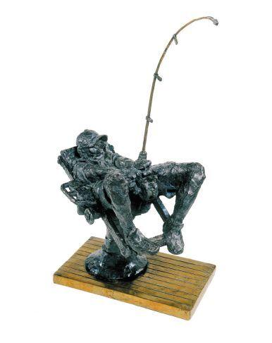 """Nine Fingers"", #bronze #sculpture by #artist Cedric Loth at #Gallery Saint-Dizier"