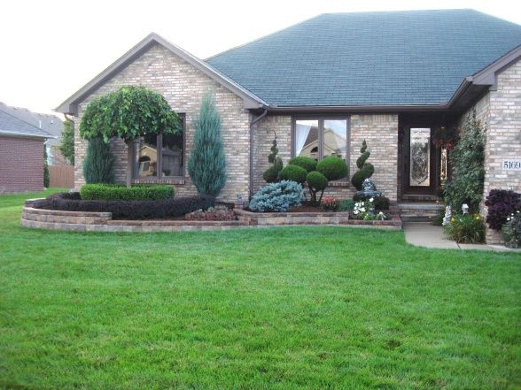 front yard retaining wall design