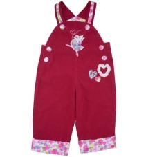 Super sweet corduroy dungarees with applique dancing mouse from Powell Craft!