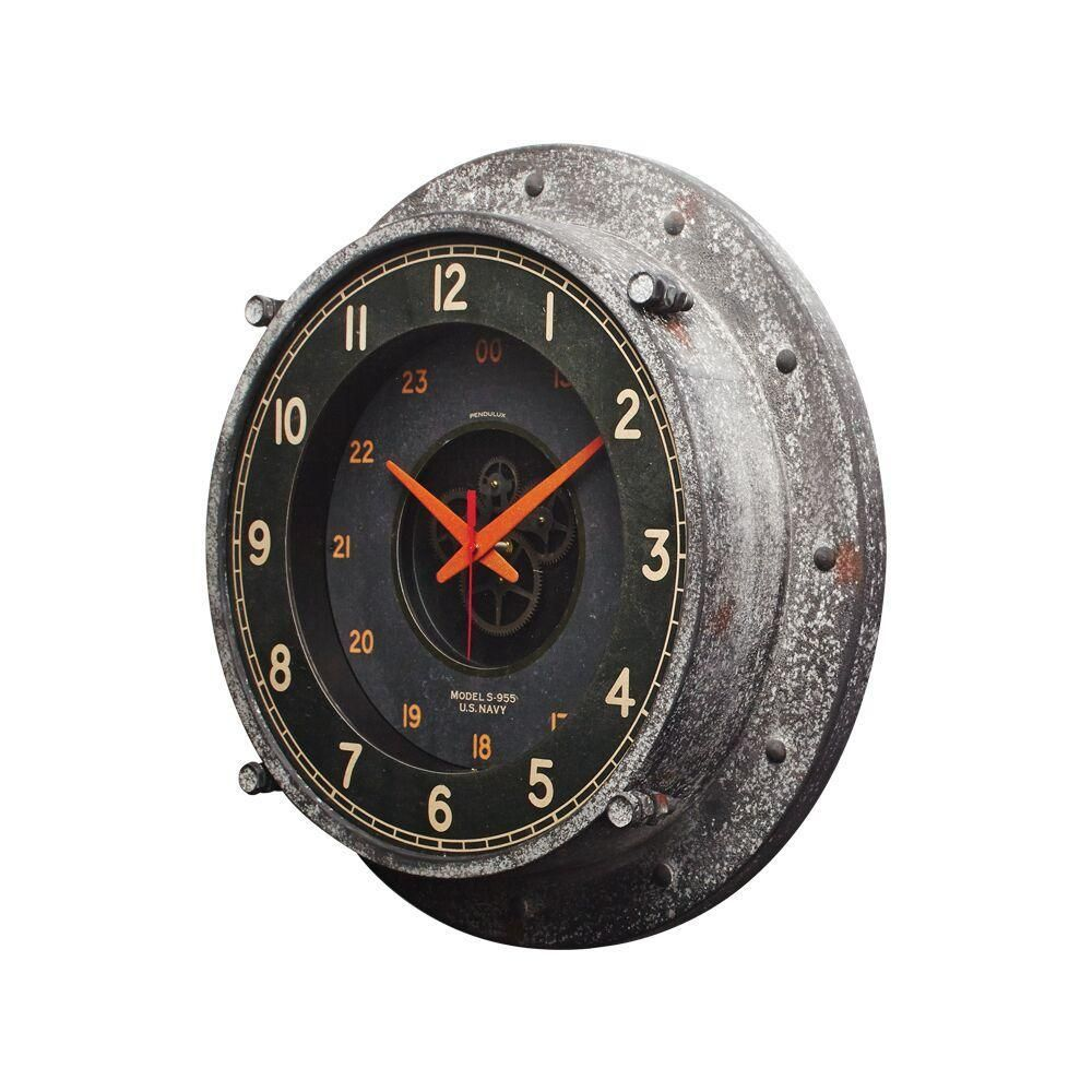 Control Room Wall Clock Atomic Age Vintage Industrial Steel Glass 20 Wall Clock Clock Vintage Industrial Decor