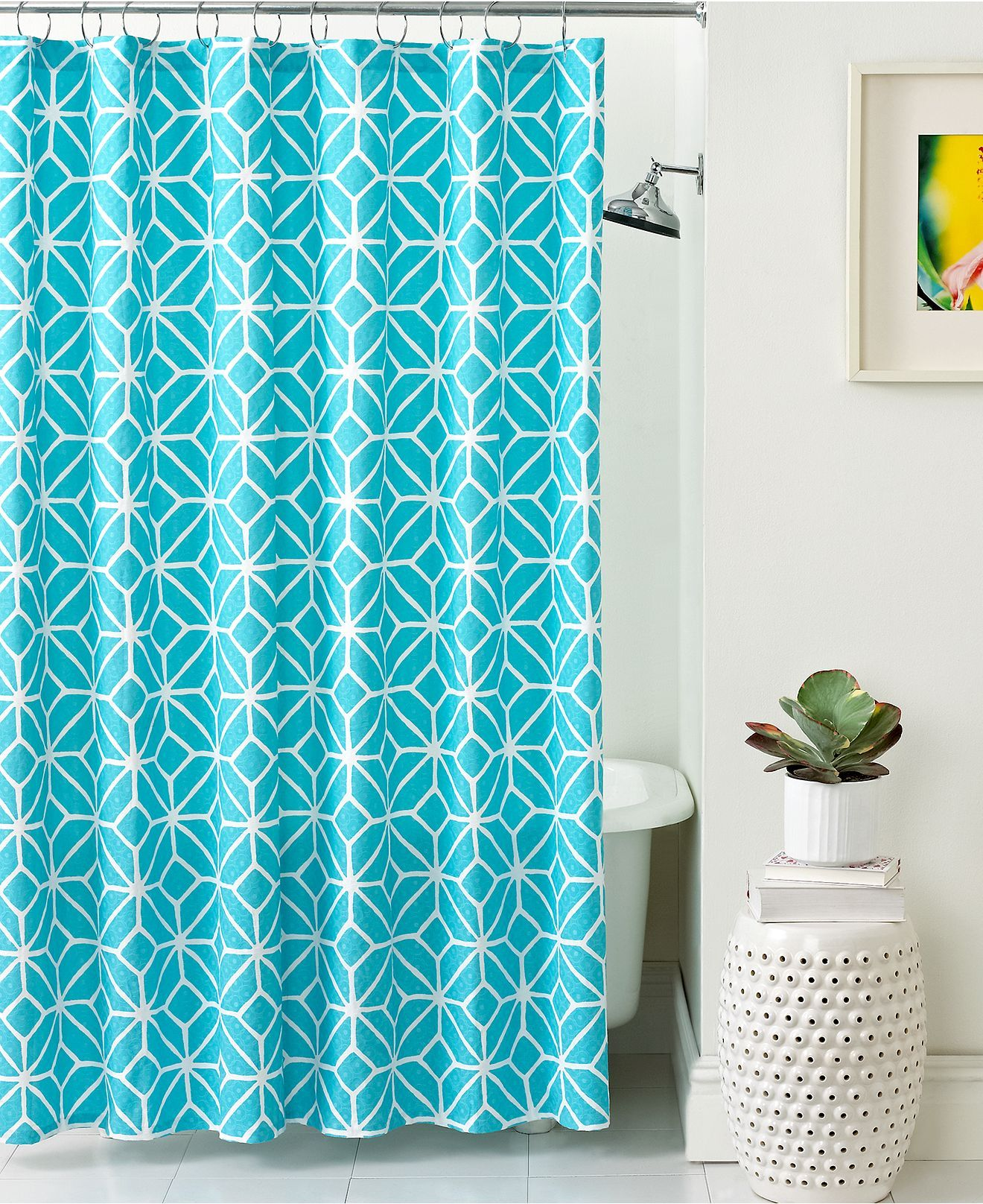 Trina Turk Bath, Trellis Shower Curtain - Shower Curtains ...