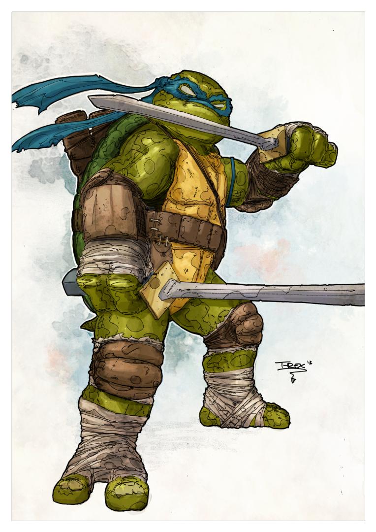 teenage mutant ninja turtles leonardo by tristan jones colours by
