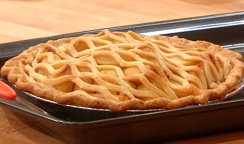 Maple Bourbon Apple Pie. Use Fat Daddio's lattice cutter for the top.