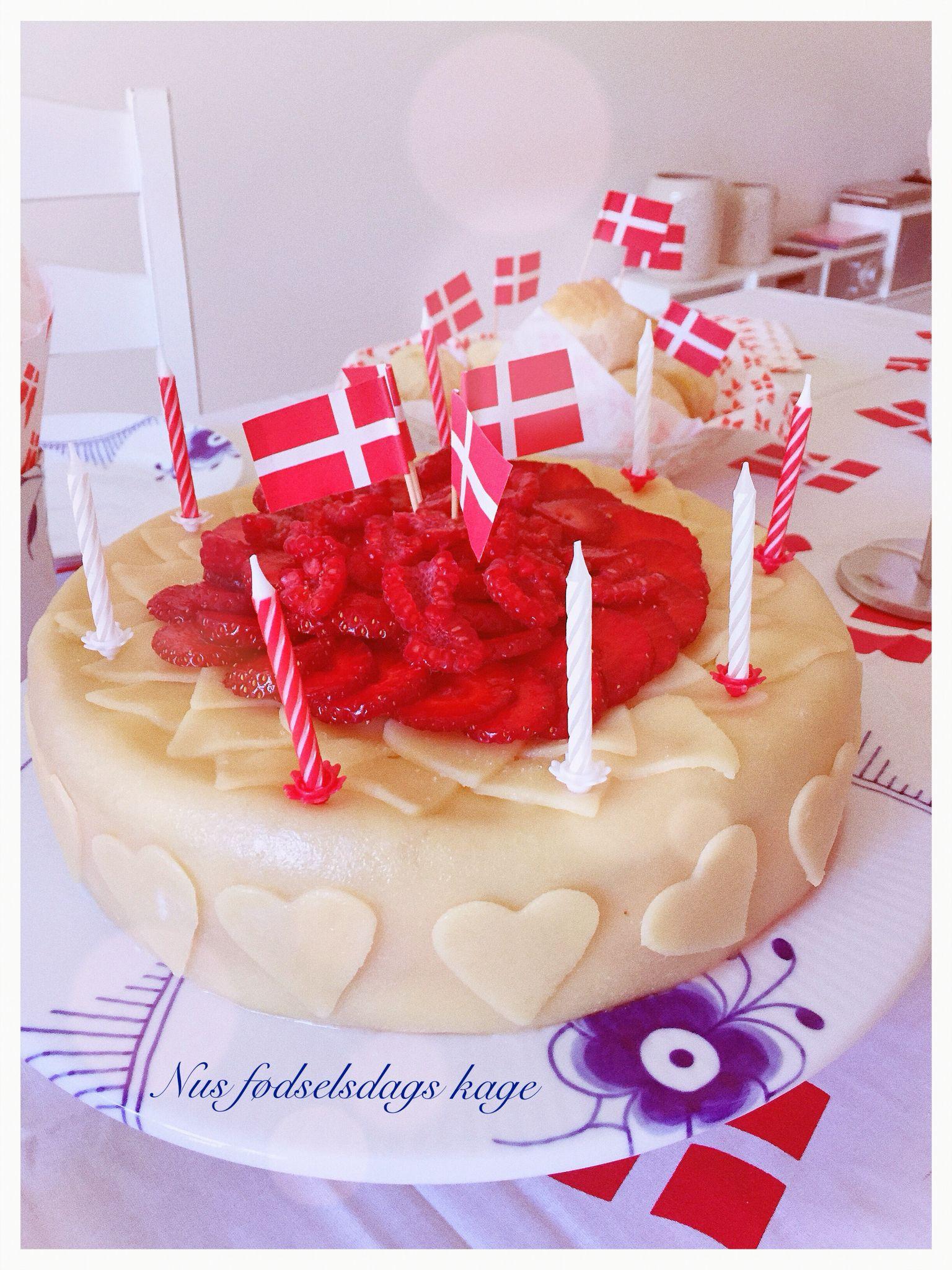 Fødselsdags lagkage 28/7.2016 til min mors fødselsdag