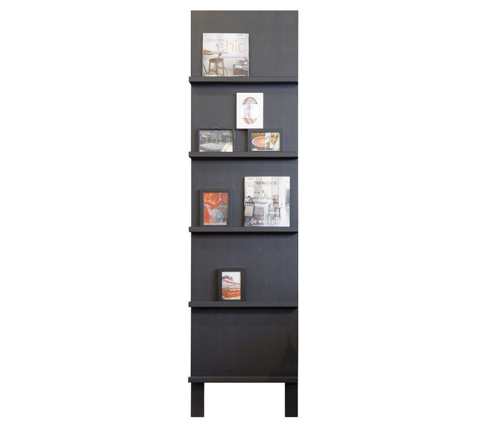 VTWonen Pronk rek €149  Materiaal:Grenenhout Kleur:Zwart Hoogte:215 cm Lengte:56 cm Diepte:10 cm