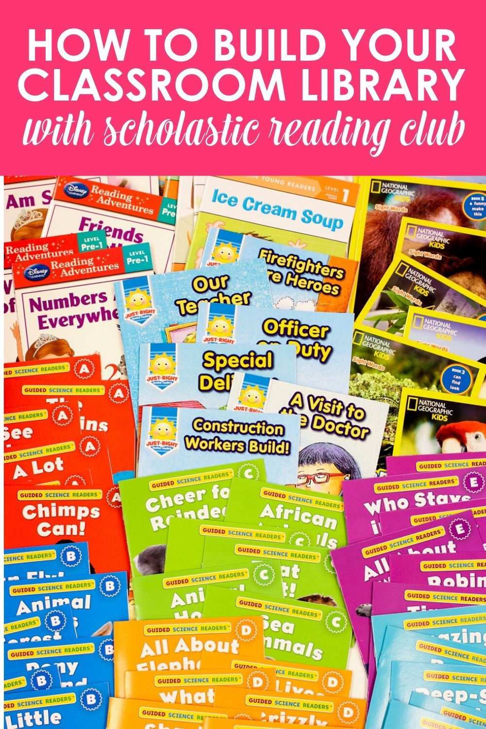 The Best Leveled Books From Scholastic Reading Club In 2021 Kindergarten Books Leveled Books Reading Club [ 1500 x 1000 Pixel ]