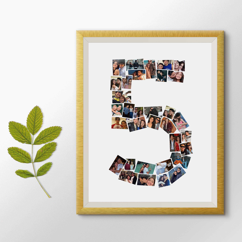 5 year anniversary 5th anniversary gift photo collage