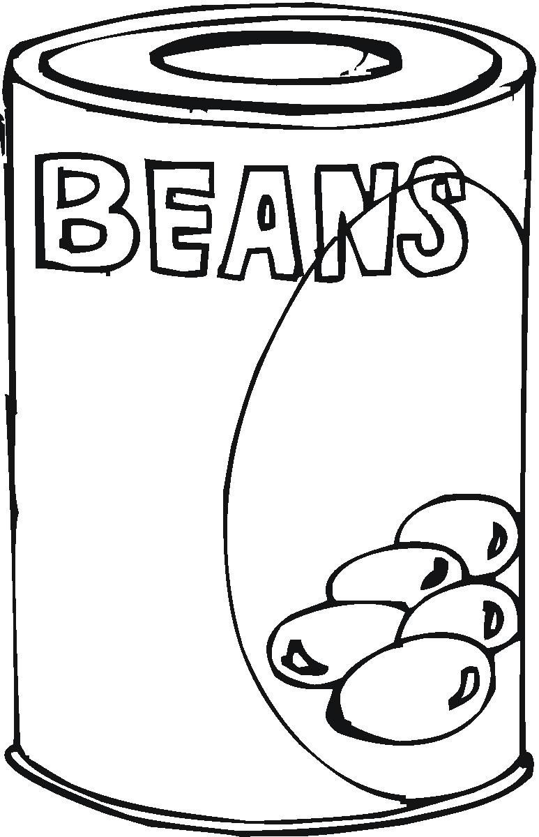 Can Food Clip Art Coloring Pages | Happy Bean Day! | Pinterest ...