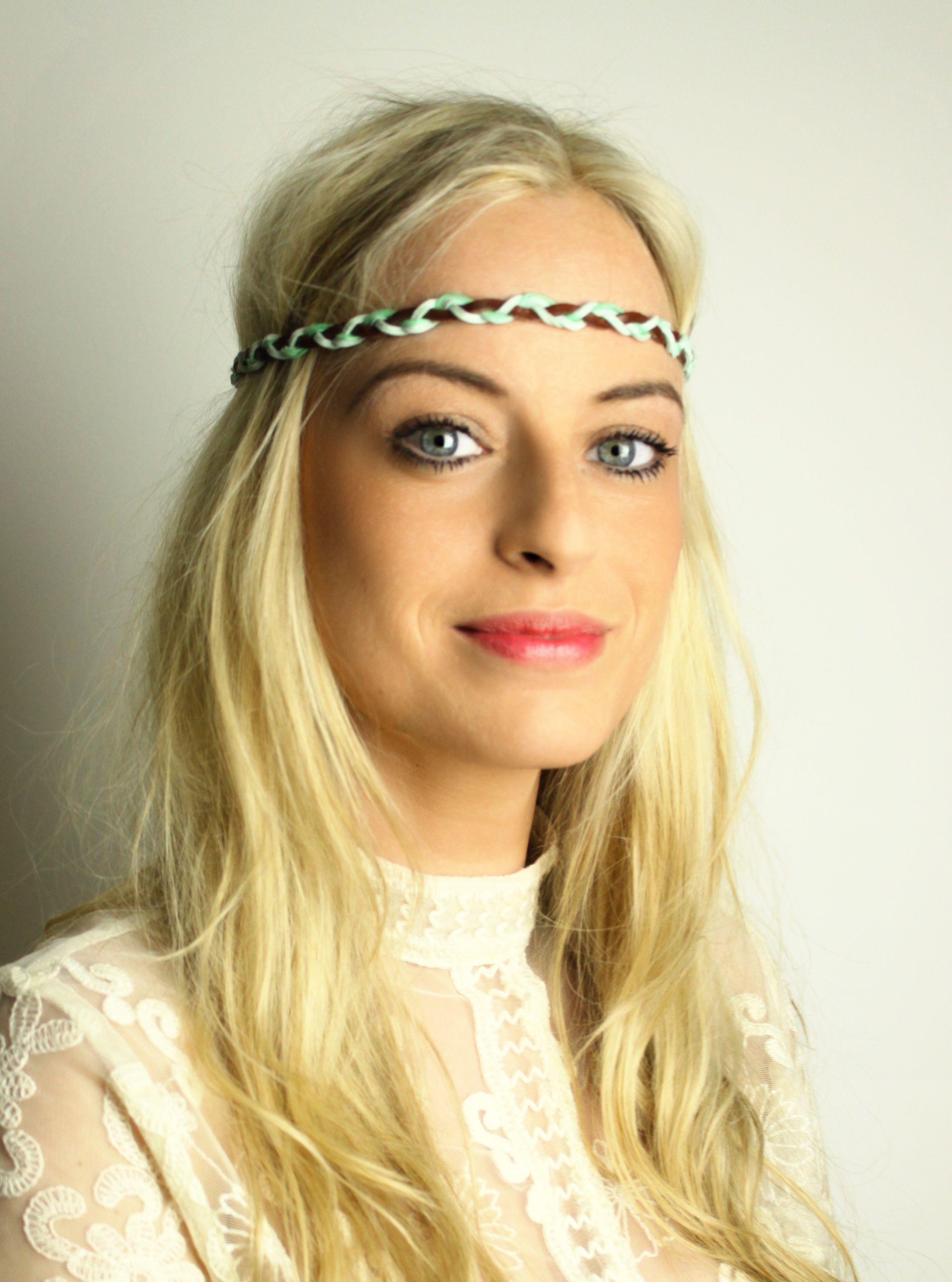 315ccbefbf5588 Geflochtenes Hippie Haarband mit echtem Leder   Hippie Go Lucky #haarband  #headband #hippie