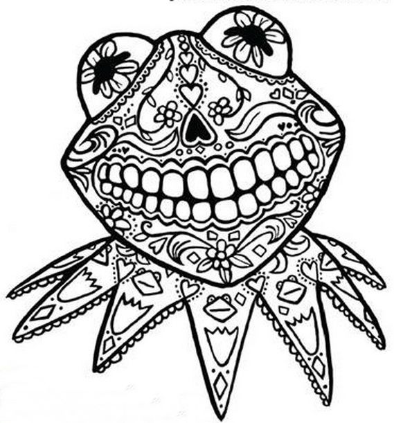 Day Dead Coloring Pages Day of the Dead Pinterest
