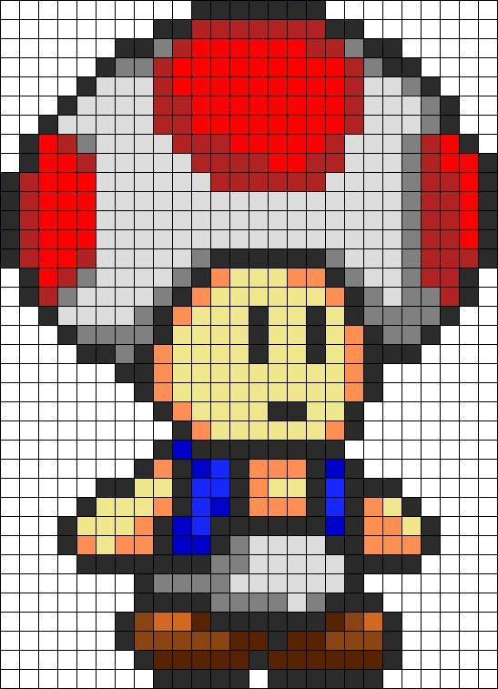 Les Perles Hama En Mode Retro Gaming Perler Bead Mario