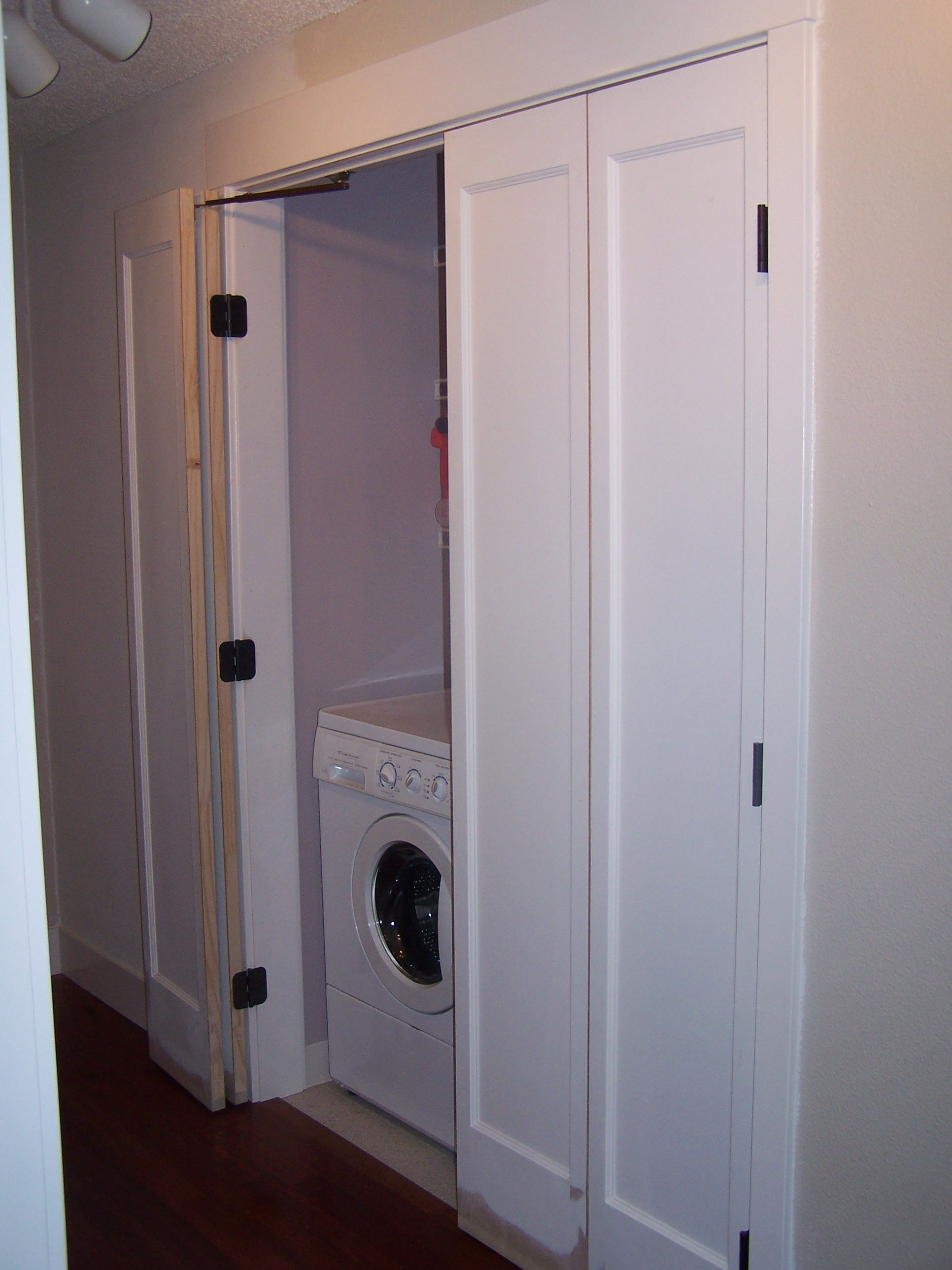 Laundry bifold doors Closet Door HardwareCloset