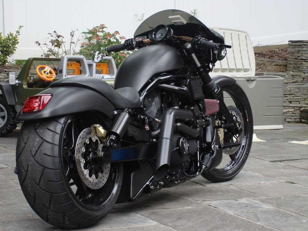 Harley Davidson V Rod Muscle In Matte Black Beautiful Bike Cars