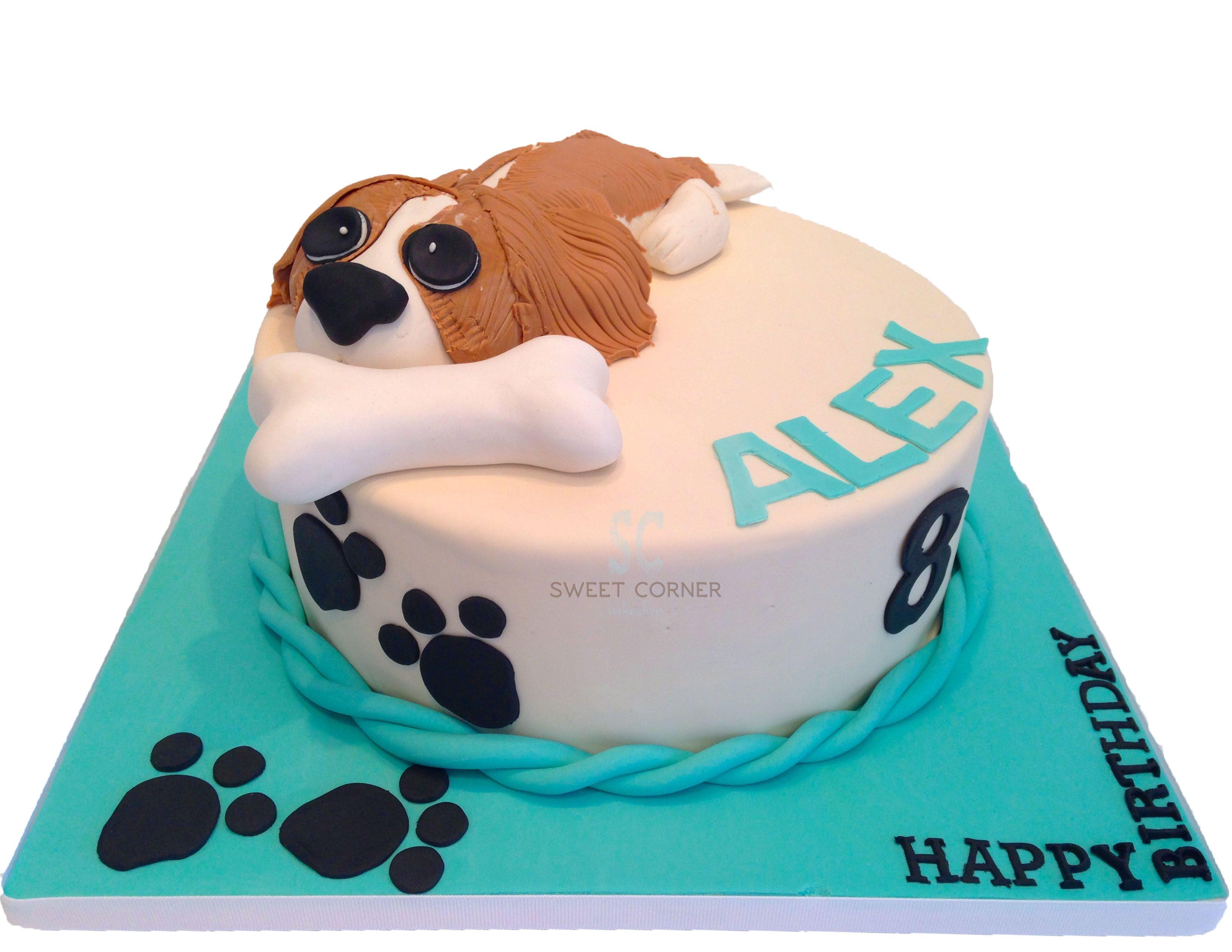 Dog And Bone Fondant Cake