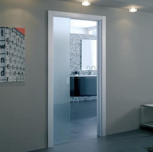 Single pocket bathroom sliding glass doors model | Bathroom Decor ...