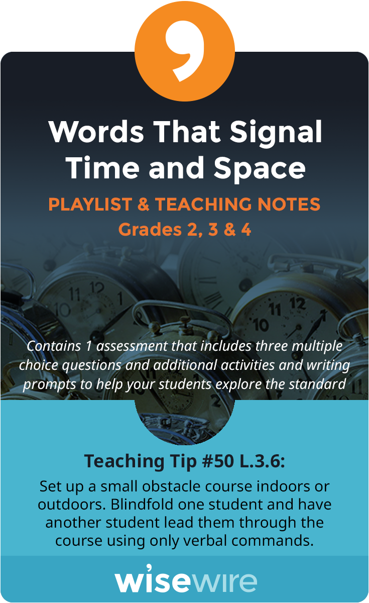 In Thi Playlist Student Explore Standard L 3 6 They Will Use Word And Phrase That Describe Relationship Of Time An Temporal Teaching Tips Hugh Gallagher College Essay