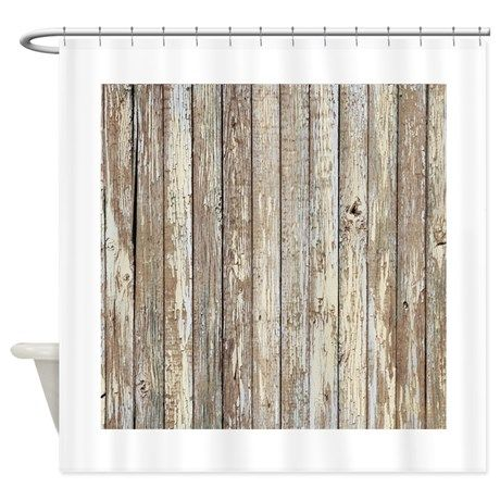 Rustic Barnwood Western Country Shower Curtain On CafePress