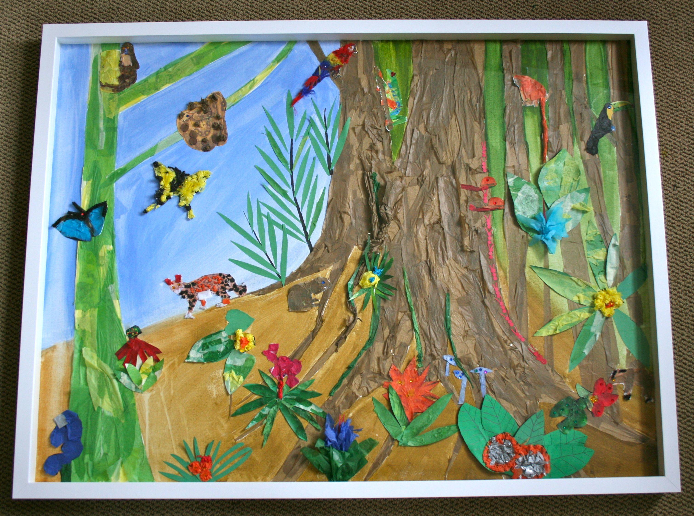 1st Grade Rainforest Collage