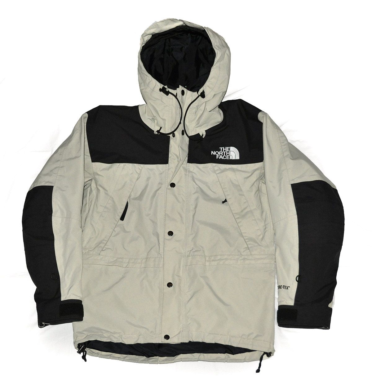 fbd140b3d509 Vintage 90s The North Face Mountain Guide Gore-Tex jacket Beige Black Size  S by VapeoVintage on Etsy