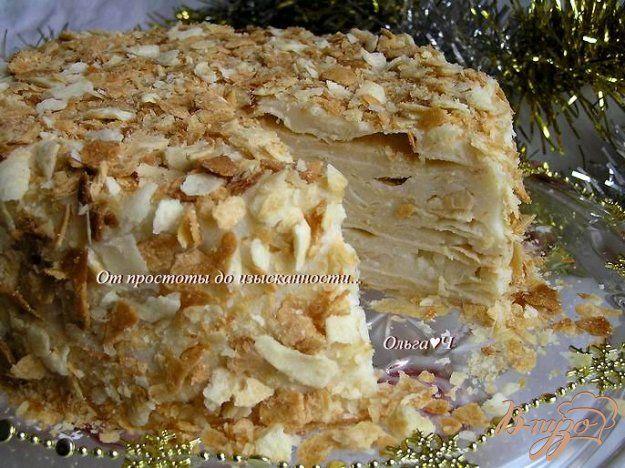 Торт «Наполеон» (постный)   Рецепт   Десерты, Торт без яиц ...