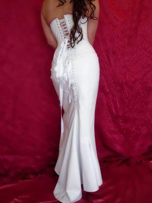 Leather Wedding Dress, White Leather Dress, Leather Dress, Bespoke ...