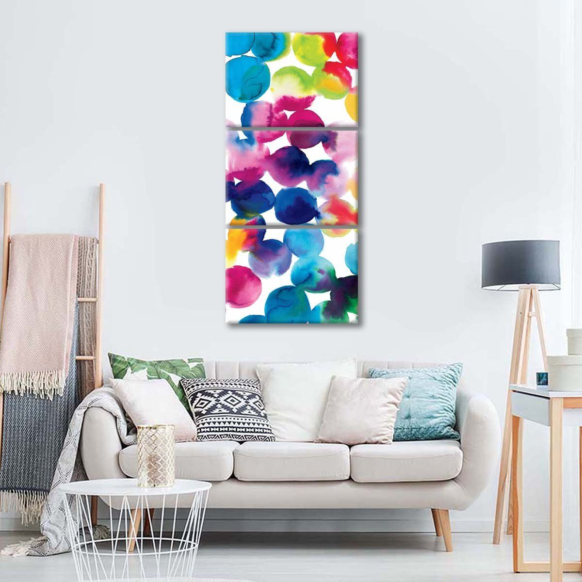 Bright circles ii multi panel canvas wall art canvas