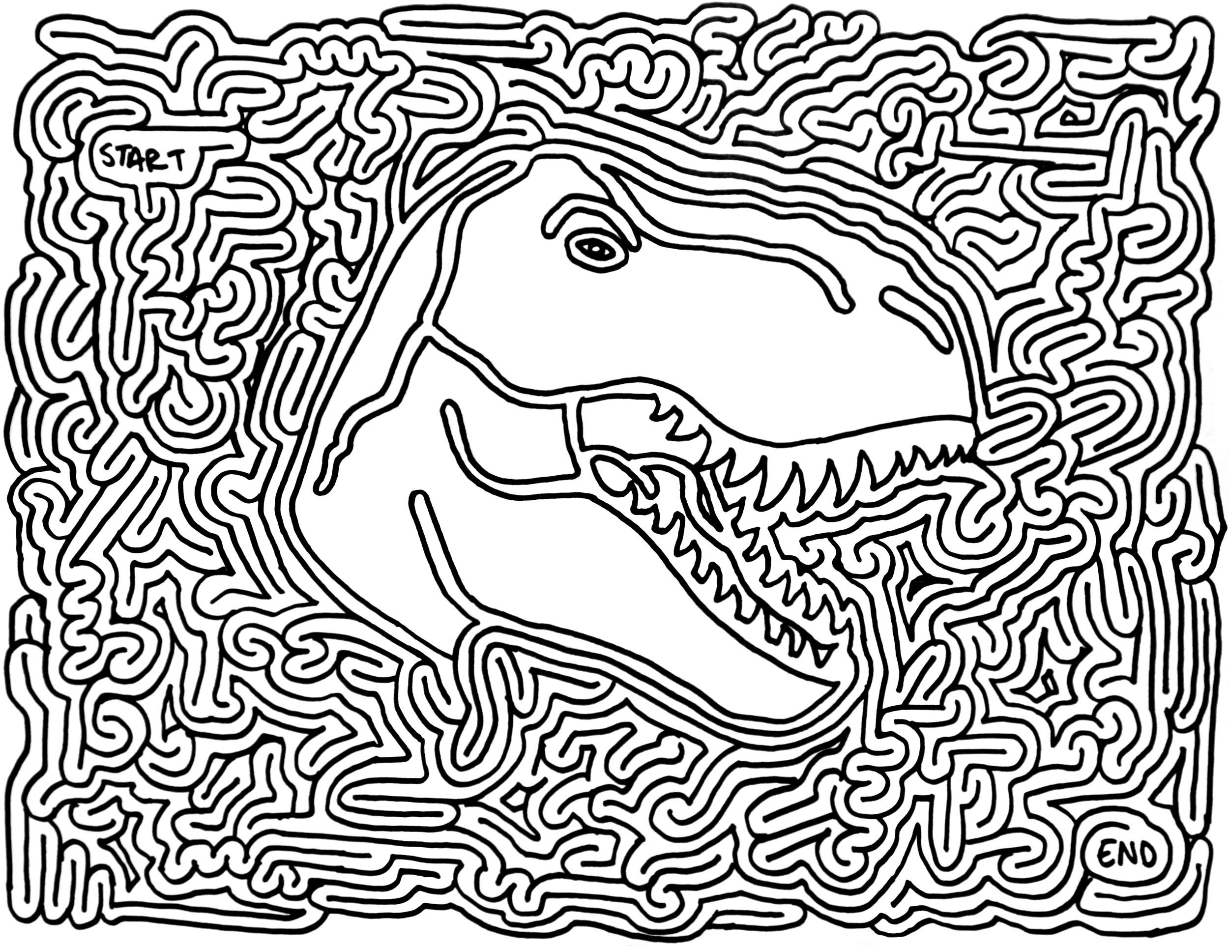 Favors - Dinosaur Printable Maze | Dinosaur Party | Pinterest ...