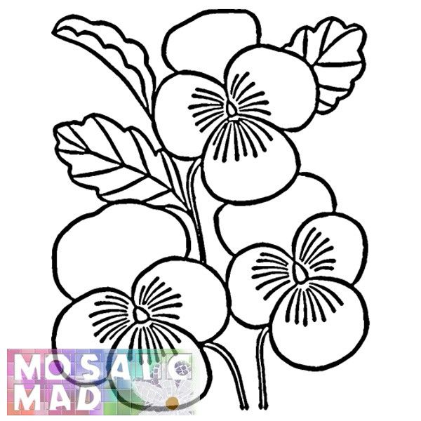 photo about Free Printable Mosaic Patterns called no cost mosaic behaviors printable FLOWER Layouts Reserve (Vol