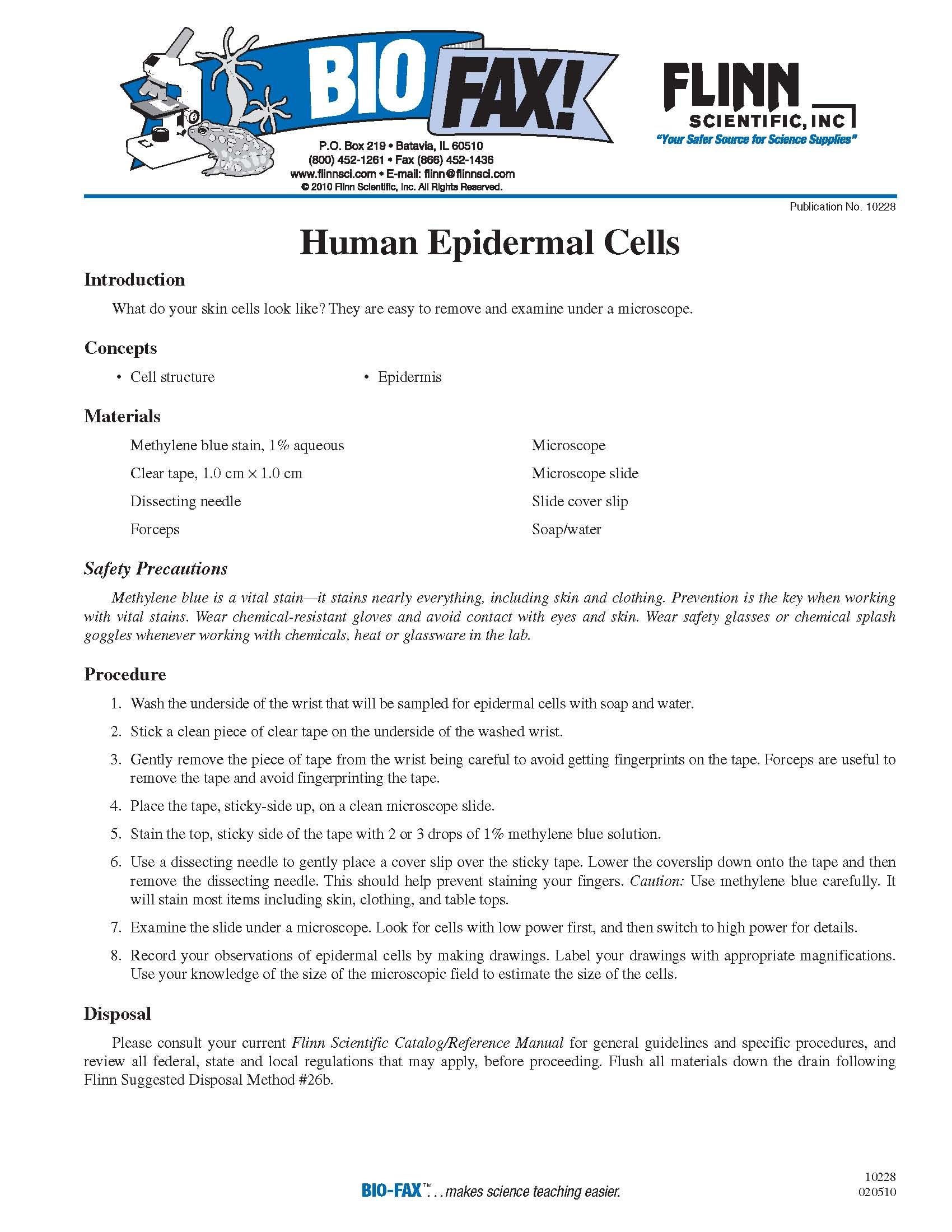 view human cells under the microscope with this free lesson from rh pinterest ca Flinn Scientific Catalog 2009 flinn scientific catalog/reference manual