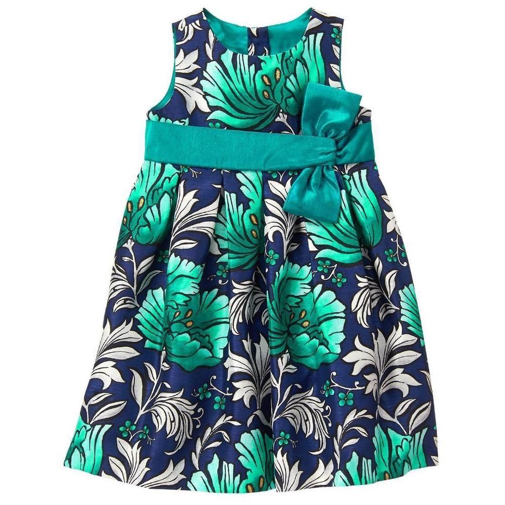 Gymboree Flower Showers 5T 5 Green Jumper Dress