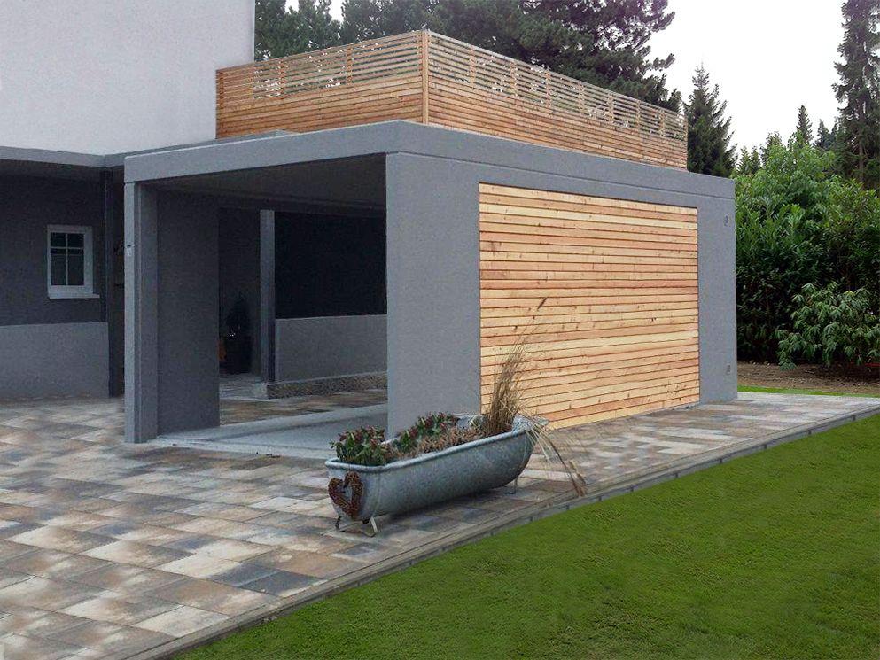 laumer garagenbau carport foto laumer die alternative. Black Bedroom Furniture Sets. Home Design Ideas