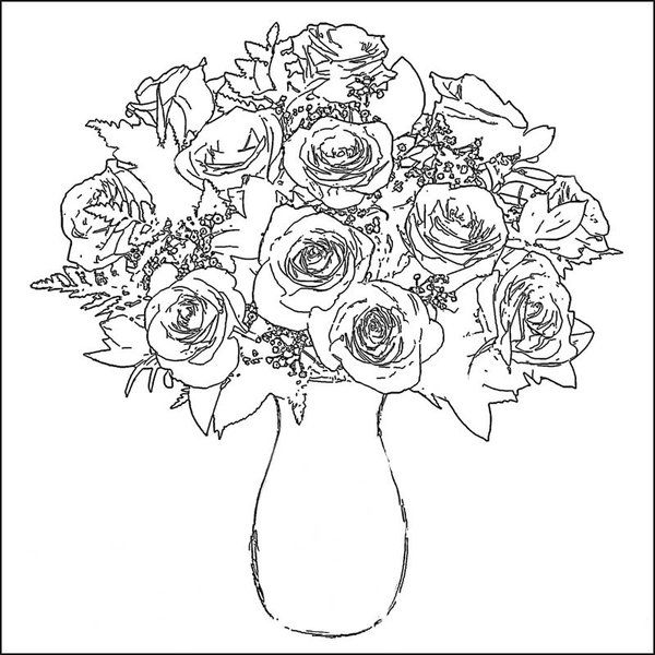 Roses Coloring Page Flower Coloring Pages Rose Coloring Pages Printable Flower Coloring Pages