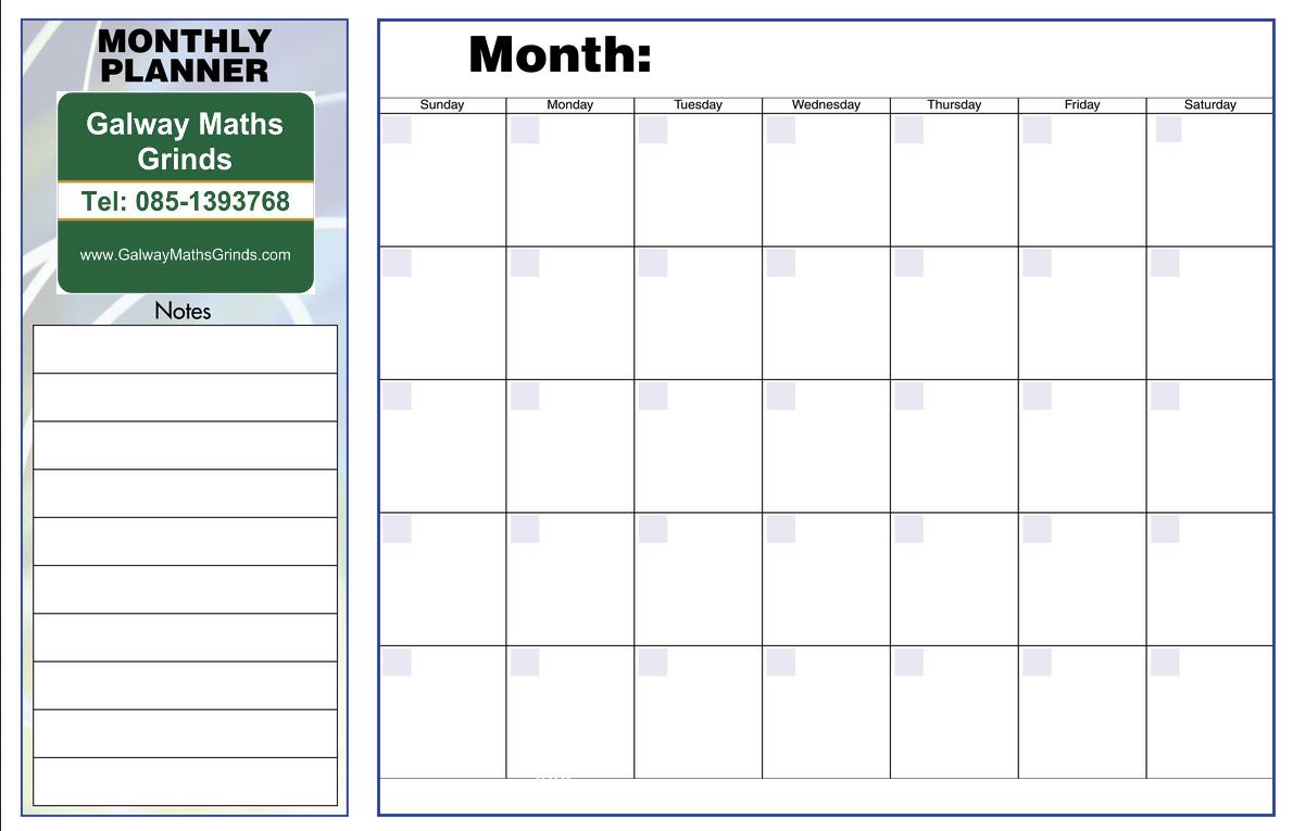 Monthly Planner Template | le-classeur.com | lykaprincess ...