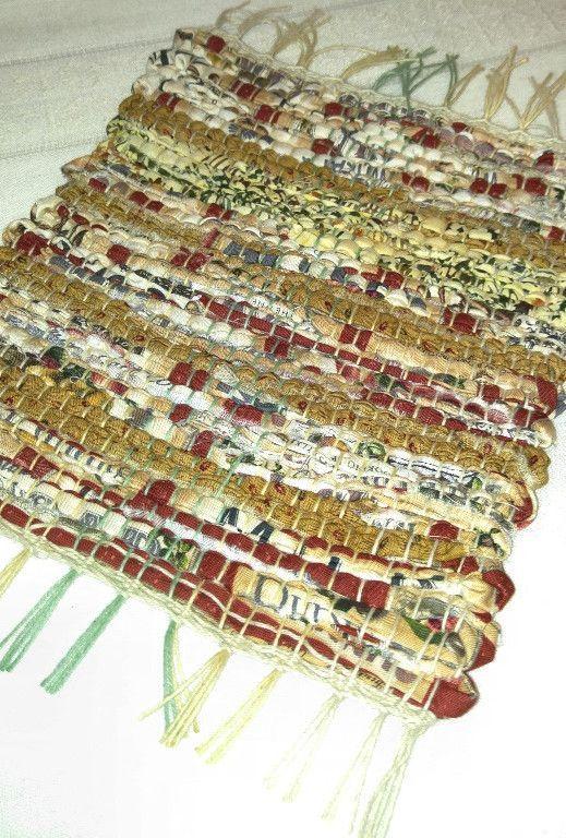 100% cotton Potholder Recycled Upcycled Handwoven Multi color Potholder or Rag Trivet
