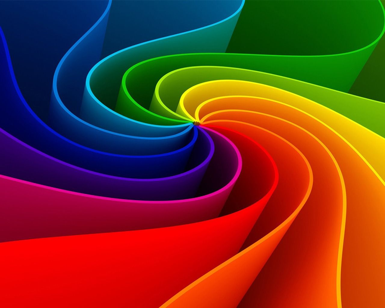 3d abstract rainbow 1280 x 1024 wallpaper colorful things
