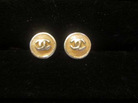Lovely Pierced Chanel Earrings with Double C's  by CoastalGraces, $165.00