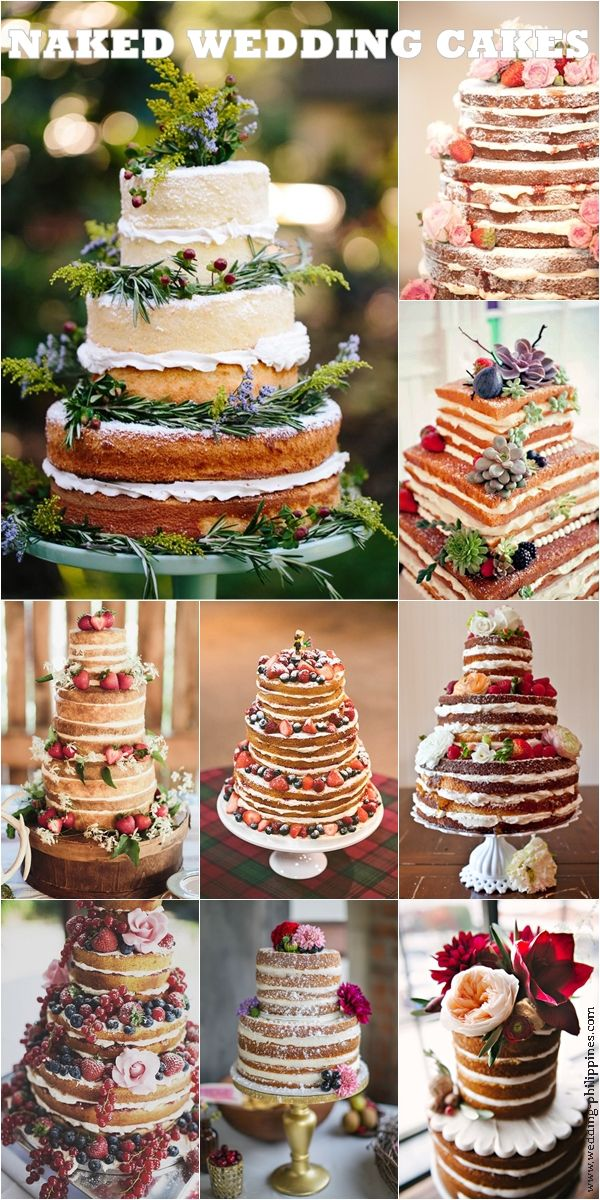no frosting wedding cake no icing wedding cakes tortas pasteles 17906