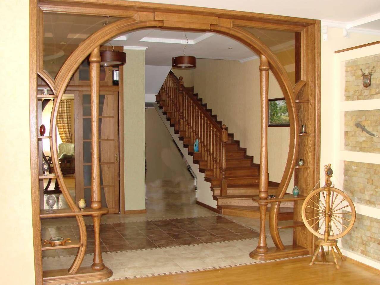 деревянные арки для дверных проходов фото рисунке приведена