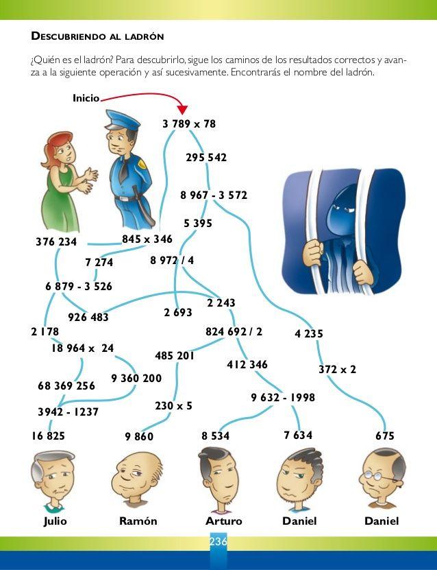 4º primaria : pasatiempos matematicas   Matematicas 3   Pasatiempos ...